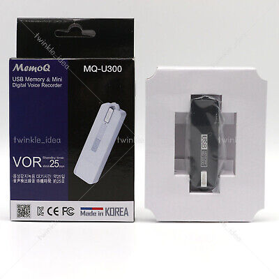Genuine MQ-U300 Digital Voice Recorder 144 Hrs 4GB White Made in Korea