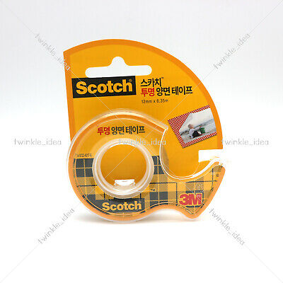 3M Scotch Transparent Double-sided Tape 1pcs