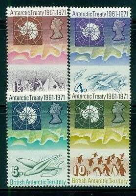 BRITISH ANTARCTIC TERRITORY 39-42 SG38-41 MH 1971 Antarctic Treaty set Cat$54