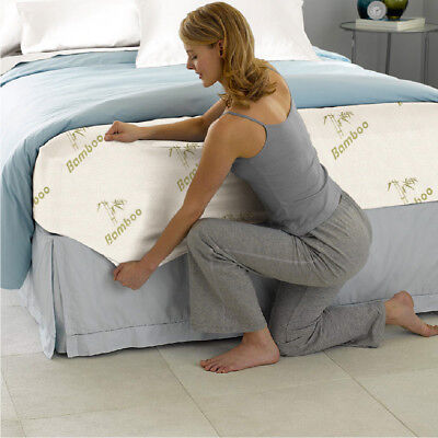 All Size Bamboo Cover Material Fully Fitted Mattress Protector/Fitted Sheet