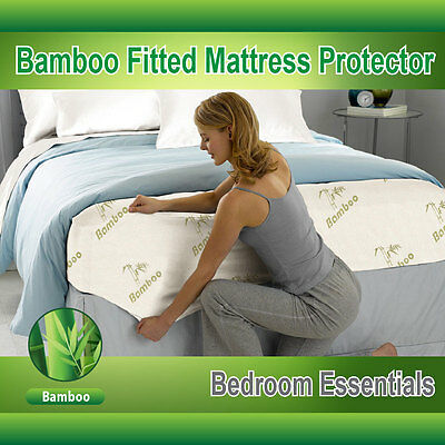 Bamboo Fully Fitted Mattress Protector/Fitted Sheet(Single/KS/Double/Queen/King)