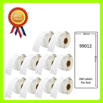 10 YEYE Brand Rolls 99012 Labels for Dymo/Seiko 36 x 89mm 260 labels per roll
