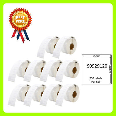 10 Rolls S0929120 Labels Compatible for Dymo/Seiko 25 x 25mm 750 labels per roll
