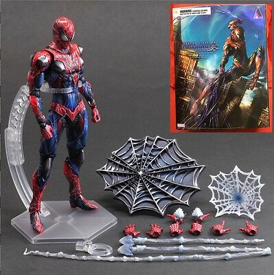 "NEW Square Enix VARIANT Play Arts Kai Spider-Man PVC 10"" high Action Figure"