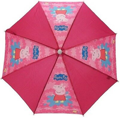 Kids Umbrella PEPPA PIG SPLASH Childrens Brolly Official Rain Umbrella Brolly