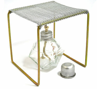 "Eisco Labs Alcohol Burner with Burner Stand (Approx. 5""x5""x5"") Starter Set"