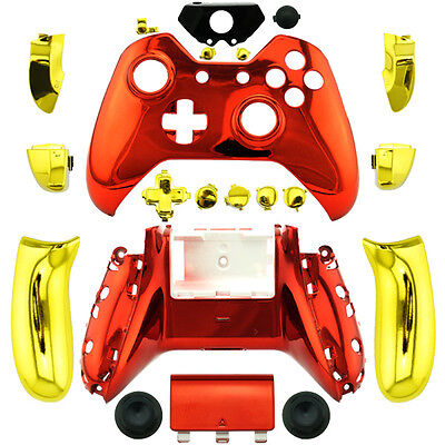Iron Man Chrome Full Custom Replacement Xbox One Controller Shell Mod Kit