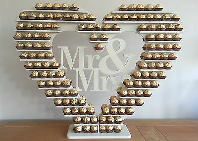 "Ferrero Rocher Heart Tree, ""Personalised"" holds 240+ DIY MDF Flatpack"