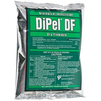 Dipel DF Organic Biological Insecticide 1lb Dry Flowable OMRI