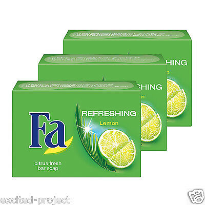Fa Lemon Refreshing Soap Bars from Germany - Pack of 3