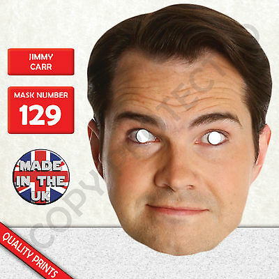 Jimmy Carr Celebrity Card Face Mask - Made In The UK - Fast Dispatch