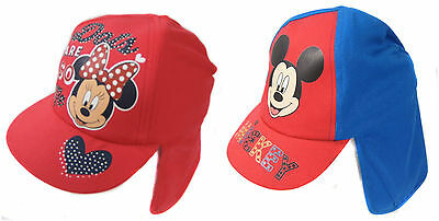 Girls Minnie or Mickey Mouse Legionnaires Hat Summer Hat 1-3 and 4-8yrs