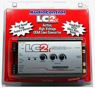 Audiocontrol LC2i 2-Channel Line Output Converter and Subwoofer Control New