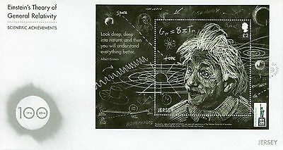 Jersey 2016 FDC Einstein Theory General Relativity NY2016 1v M/S Cover Stamps