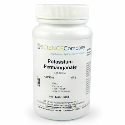 NC-0744  Potassium Permanganate, 100g, Fire starter, Wood stain, Patinas