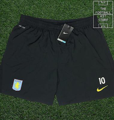 Aston Villa Training Shorts - Official Nike Shorts with Numbers - Mens - L- 2XL