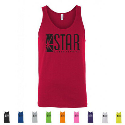 STAR Laboratories S.T.A.R. Labs The Flash TV Barry Allen Merch Mens Tank Tops