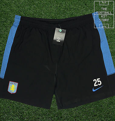 Aston Villa Training Shorts - Official Nike Shorts with Numbers - Mens - XL|2XL