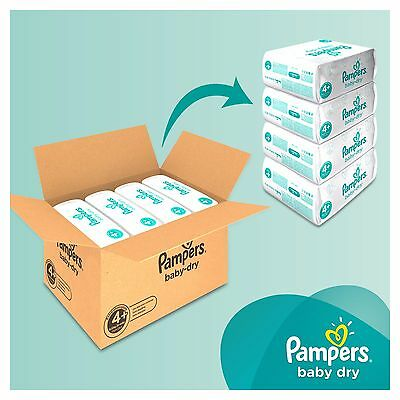 Pampers BABY DRY Nappies SIZE 3  4  4+  5  5+  6 ****FREE DELIVERY****