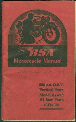 BSA Instruction Book Rocket Gold Star 650 A10 RGS Motorcycle Manual Part MC-10
