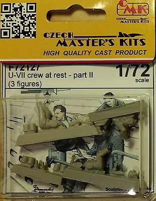 U-VII crew  at rest German WWII Special Hobby - CMK 1:72 resin figures F72127