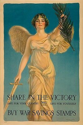 Share in the Victory Haskell Coffin Vintage Patriotic Print Poster 18x26