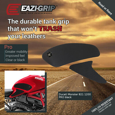 Eazi-Grip PRO Tank Grips for Ducati Monster 821 and 1200, clear or black