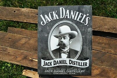 Jack Daniels Cameo Portrait Tin Metal Sign - Old No. 7 - Tennessee Whiskey Retro