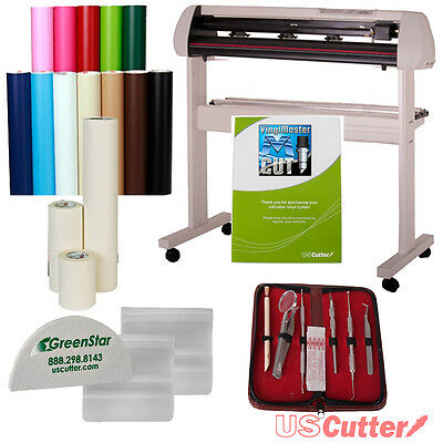 Wall Art Vinyl Cutter Bundle, Interior Decoration Sign Making Kit, Oracal 631