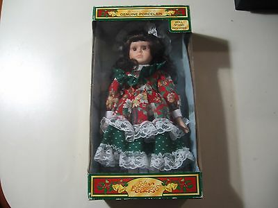 "12"" Soft Expressions Holiday Classics Porcelain Doll, Brand New & Sealed"
