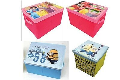 Offical Disney,Minnion Foldable Chest Storage Box Toy Clothing Storage Solutions