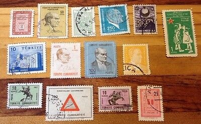 Assorted Stamps from Turkey Turkish Turkiye
