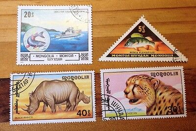 Assorted Stamps from Mongolia