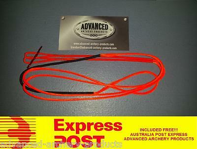 Recurve Archery Bow String (ORANGE 8125G Material) Australian Made. All Lengths