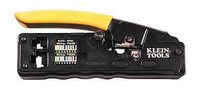 Compact Klein Tool Ratcheting Modular Crimper Nest Cutter Data Cable Technician
