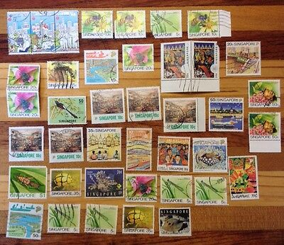 Assorted Stamps from Singapore