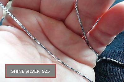 Guaranteed Solid Italian 925 Sterling Silver Box Chain Necklace