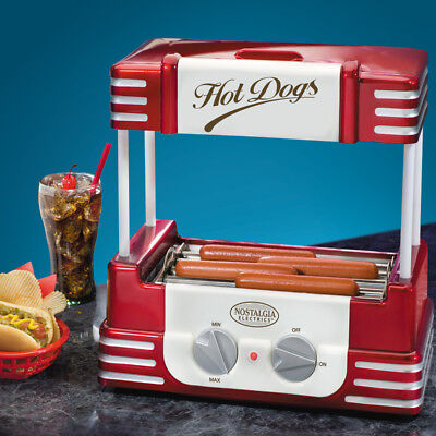Hot Dog Roller Grill + Bun Warmer ~ Mini Electric Rolling Hotdog Cooker Machine