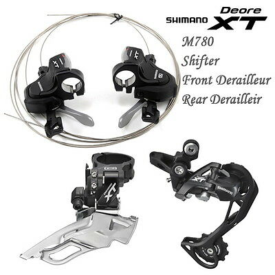 Shimano Deore XT M780 Groupset Front Rear Derailleur Shifter with Gear Display