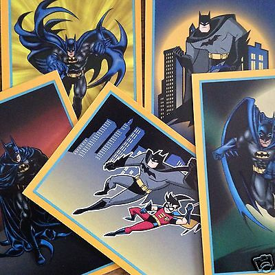 5 Batman Robin Trivial Pursuit Cards 1999 Warner Bros Edition TV Animation Show