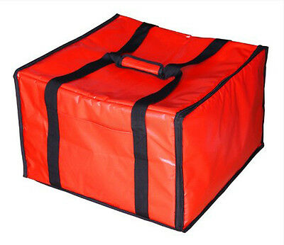 Pizza Delivery Bag Insulated Pizzas Food Restaurant Box Zipper Fasteners Red NEW