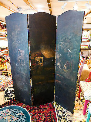 "Antique European Room Divider 68"" x 54"" (3-sections) As, Is Condition"