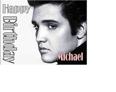 Elvis Presley The King Of Rock And Roll A5 Birthday Card Personalised Best