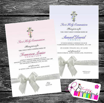 Personalised Invitations First Holy Communion x 5