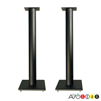 "Quest EM500C Solid Steel Foundation Speaker Stands 32"" w/Spikes. 1 Pair/2 Stands"