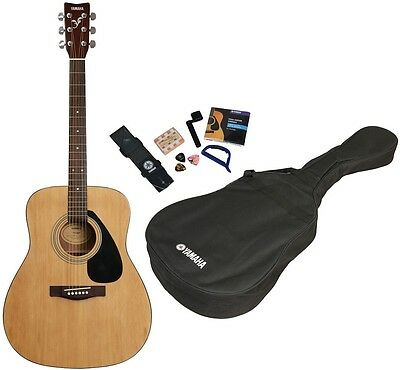 Yamaha F310P Folk Acoustic Guitar Kit (Natural Finish). With Picks, Gig Bag, Etc