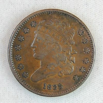 1835 Classic Head Half Cent - VF Condition - Nice Grade