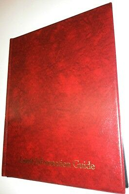 Guest Information Guide Pvc Folder 7 A4 Double Pockets Ref Red/Gold