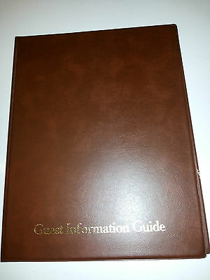 Guest Information Guide Pvc Folder 7 A4 Double Pockets Ref Brown/Gold