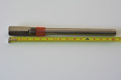 "Moore thermowell 316 SS new, bore 3/4"", process 1""NPT, insertion length 12"""